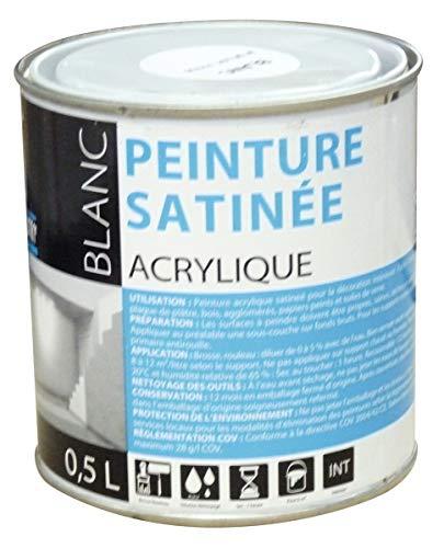 Peinture acrylique Batir 1er - Boîte 0,5 l - Blanc