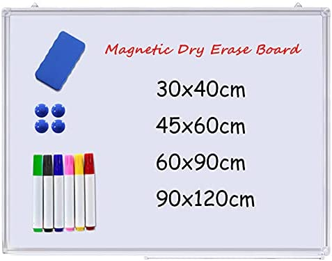 2021 model Whiteboard Magnetic Dry Erase Wall Max 68% OFF Board Mounted W Smooth Notice