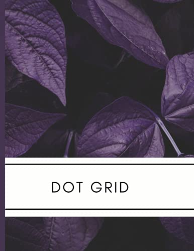 Purple Dot Grid Notebook: Large Dotted Paper 8.5 x 11, Simple Unlined Journal Gift