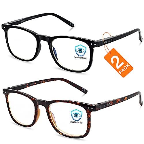 Blue Light Blocking Glasses, Blue Blocker Computer Glasses for Men Women, Anti Glare 400 UV & Eye Strain Fake Square Glasses (Tortoise + Black)