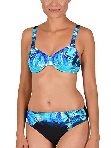 Naturana Bügel Bikini 72587 Gr. 44 E in schwarz-royal-türkis