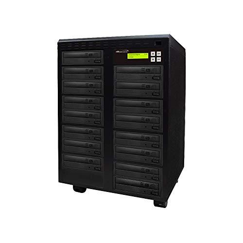primera technology duplicators Vinpower Digital Standard 1 to 15 Target 24x DVD CD Disc Duplicator Tower SATA Optical Drives - Black (Econ-S15T-DVD-BK)