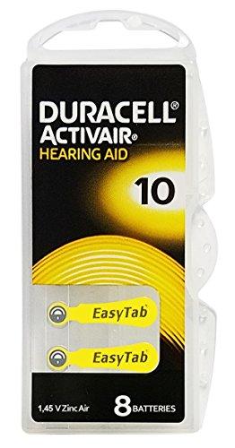 Duracell Activair Hearing Aid Batteries: Size 10 80 Batteries