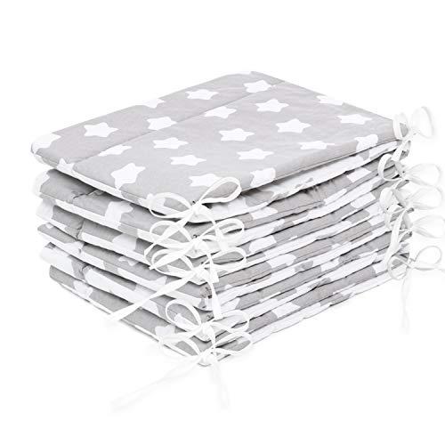 Amilian® Bettumrandung Nest Kopfschutz Nestchen 420x30cm, 360x30cm, 180x30 cm Bettnestchen Baby Kantenschutz Bettausstattung MIX 6 (360x30cm)