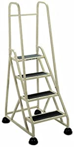 Cramer 1043-19 Stop-Step Ladder 4 Steps with Double Handrail 36-inch High Top Step, Beige