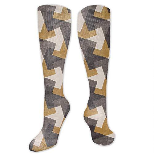 Kotdeqay GeometricCompression Socks, BEST für Männer & Frauen, Laufen, Fliegen, Reisen , Partys