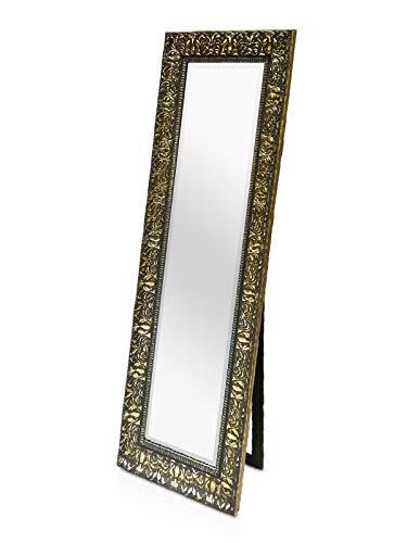 Rococo by Casa Chic - Espejo de Pared Shabby Chic - 130x45 cm - Gran Espejo Estilo Vintage Francés - Carbón y Oro