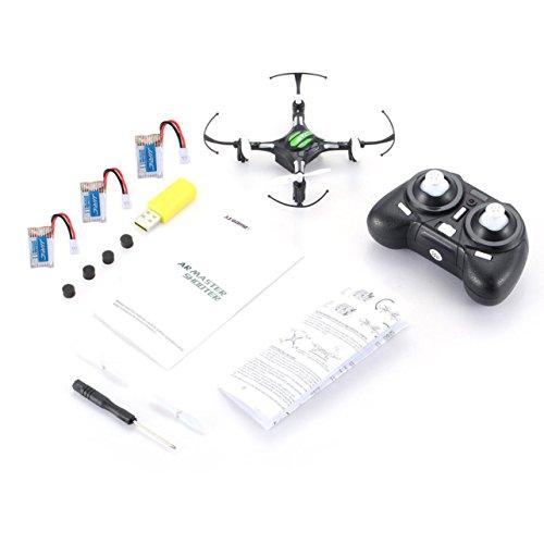 WOSOSYEYO JJR / C H8 Mini 2.4G 4CH Gyro Drone de 6 Ejes RC Quadcopter 360 Función Flip Modo sin Cabeza RTF con 3 baterías RTF