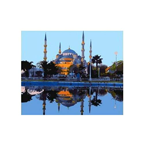 Jigsaw Puzzle 1000 Piece For Adults Puzzle 3D Wooden Classic Puzzle Sultanahmet Mosque Landscape Diy Educational Puzzle Christmas Home Decor Gift 75X50Cm