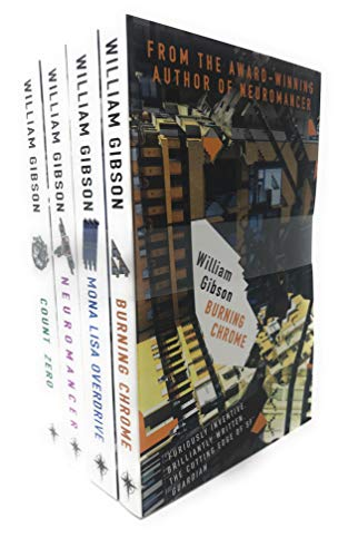 William Gibson Neuromancer Collection 4 Books Bundle With Gift Journal (Neuromancer, Count...