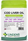 Lindens Cod Liver Oil 1000mg Capsules   90 Pack   High in Omega