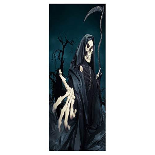 Fasclot Halloween Skull Zombie Ghost Door Stickers Home Decoration 38.5 x 200cm x 2pc Home & Garden Wall