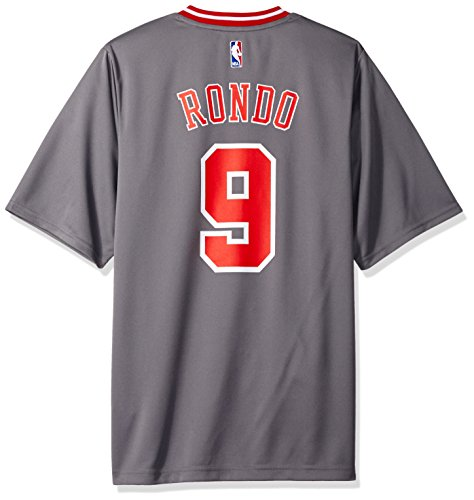 adidas NBA Chicago Bulls Rajon Rondo # 9Hombres Camiseta de Jersey, Hombre, Pride Replica Jersey, Pride