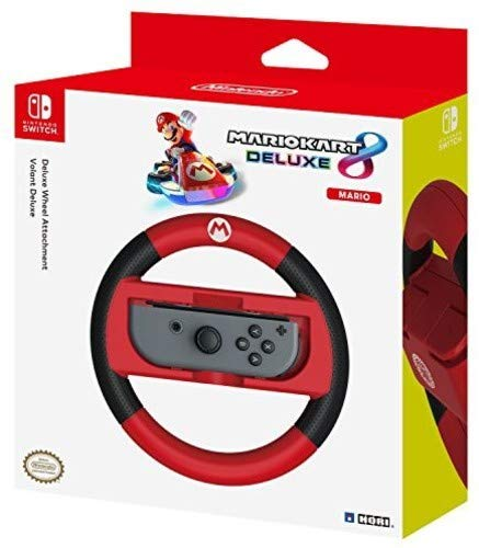 HORI - Nintendo Switch Mario Kart 8 Deluxe Wheel Attachment Mario Edition (Nintendo Switch)