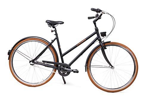 28 Zoll Alu Urban Fahrrad Damen City Bike Shimano 3 Gang Nexus schwarz Rh52cm