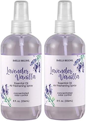 Smells Begone Essential Oil Air Freshener Spray Odor Eliminator Lavender Vanilla Scent 2 x 8 product image