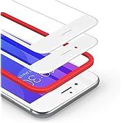 BANNIO 2 Stück für Panzerglas für iPhone 7 Plus/iPhone 8 Plus [Installationsrahmen inklusive],HD Ultra-klar Panzerglasfolie Full Sreen,Anti-Kratzen,3D-Touch,Vollständige Abdeckung -weiß