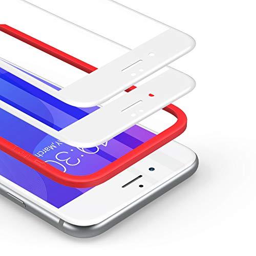 BANNIO Protector de Pantalla iPhone 7 Plus/iPhone 8 Plus,[2 Unidades] 3D Cobertura Completa Cristal Templado para iPhone 7 Plus/iPhone 8 Plus,Blanco