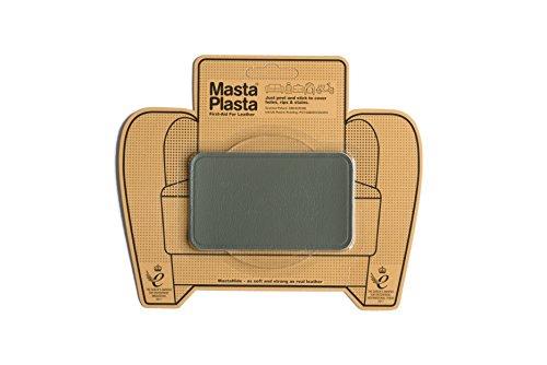 MastaPlasta - Parches AUTOADHESIVOS para reparación de Cuero y Otros Tejidos. Gris. Elije el tamaño y el diseño. Primeros Auxilios para sofás, Asientos de Coche, Bolsos, Chaquetas