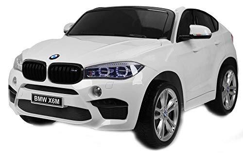 giordanoshop Coche eléctrico para niños 12 V 2 plazas BMW X6 M...