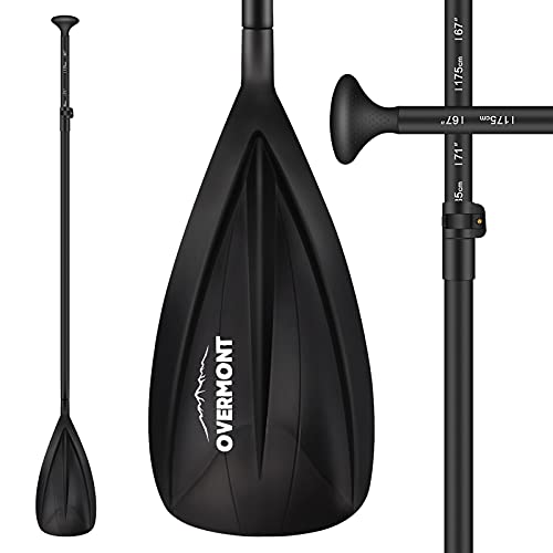 Overmont Aluminum Alloy SUP Paddle - 3 Piece Adjustable Stand Up Paddleboard Paddle