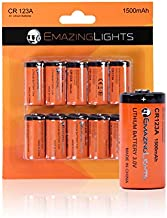 CR123A Battery (10 Pack) 3V Lithium C Cell CR 123A Batteries for Flashlights, Fire Smoke Alarms, Cameras EmazingLights