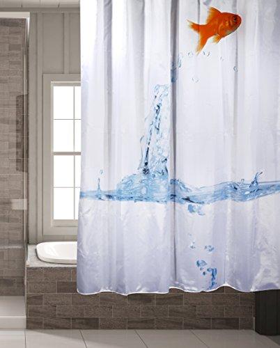 Bada Bing Duschvorhang Goldfisch Fisch Aquarium Wasser Dusche Vorhang