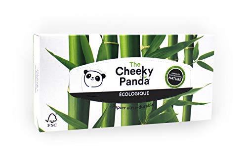 The Cheeky Panda – Mouchoirs en Bambou | Boîte de 80 mouchoirs (3 épaisseurs) | Boîte Rectangle, Hypoallergénique, Sans Plastique, Écologique, Super Doux, Résistant & Durable