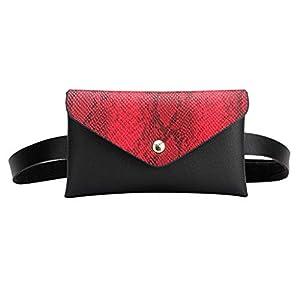 TWIFER Peso Ligero estupendo para el Paquete de la Cintura del Viaje Deportiva Precioso Bolso de para la Viaje de la Manera Fanny empacan el Impermeable Moda Verano 2019 Cintura Ciclismo Rojo