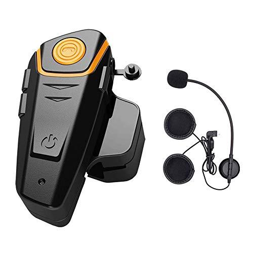 Motorrad Helm Headset Bluetooth Intercom Wasserdicht Helm Gegensprechanlage Wireless Sprechanlage mit 1000m, GPS, FM Radio, MP3 Player, BT - S2