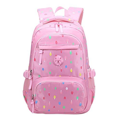 MLOPPTE Mochilas escolares encantadoras para mujeres adolescentes Mochila escolar impermeable Mochila de moda para estudiantes Mochilas multibolsillos para niños rosa