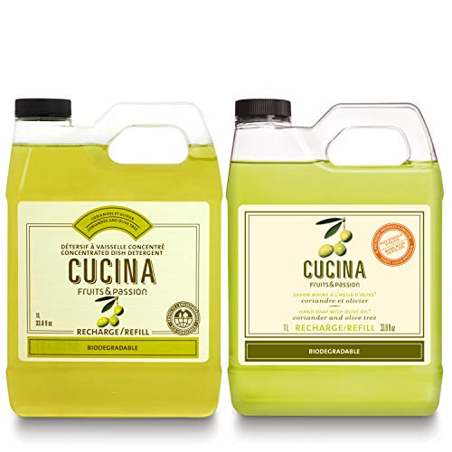 Fruits & Passion [Cucina] - Coriander & Olive Tree - Hand Soap and Dish Soap Refill Set