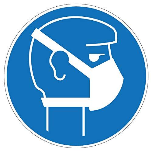 4 pezzi adesivi maschera di protezione delle vie respiratorie segnaposto/17 x 17 cm/adesivi/COVID-19/protezione per bocca/respiratore/Corona.