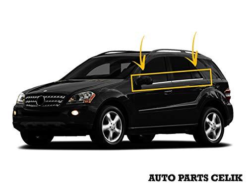 Cubierta cromada para Marcos de Ventanas de Acero Inoxidable para Mercedes Clase ML W164 SUV 2005-2011, 4 Unidades