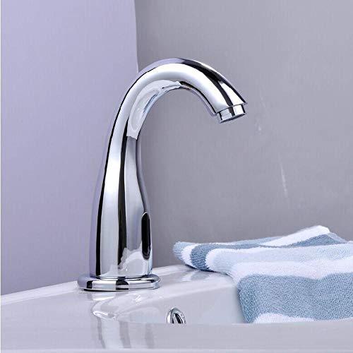 VZJSLT Moderne waterkraan, retro-waterkraan, 360 graden draaibaar, roestvrijstalen waterkraan, volautomatische infrarood, intelligente inductiekraan, koud wastafel, wastafel, waterkraan
