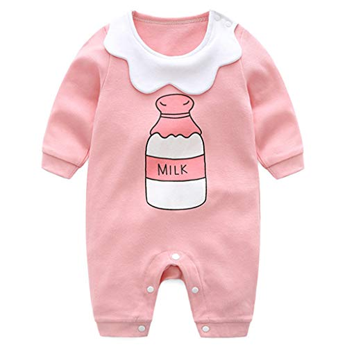 Neugeborene Strampler Baby Spielanzug Mädchen Schlafanzug Baumwolle Overalls, 0-3 Monate
