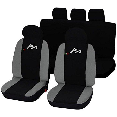Lupex Shop Ford Ka zweifarbige Sitzbezüge - schwarz hellgrau