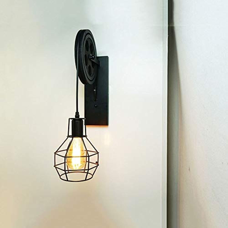 Yaione American Retro Iron Art Cage Wandleuchte Indoor Home Fixture Innovation Beleuchtung Beleuchtung Wohnzimmer Korridor Wandleuchte Cafe Bar Attraktive Luxusvilla Garten Auenwand Scocne