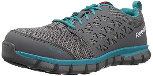 Reebok Work Women's Sublite Cushion Safety Toe Athletic Work Shoe Industrial, Grey, 5 W US