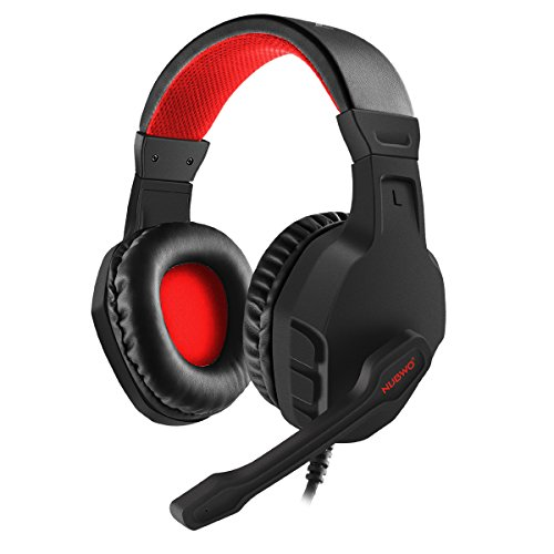 NUBWO U3 3.5mm Gaming Headset for PC, PS4, Laptop, Xbox One, Mac, iPad, Nintendo Switch Games, Computer Game Gamer Over Ear Flexible Microphone Volume Control with Mic