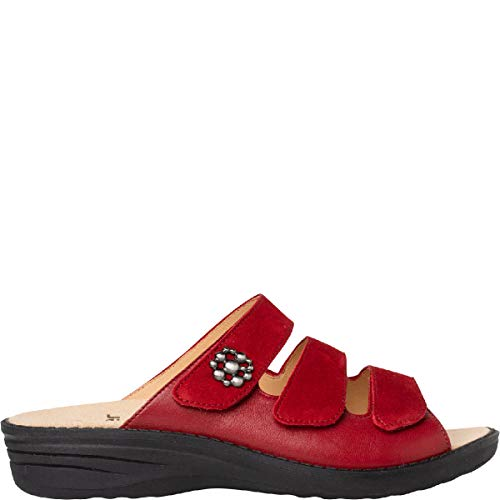 Ganter Hera-h, Zapatos para Profesionales Sanitarios para Mujer, Rojo, 36 EU