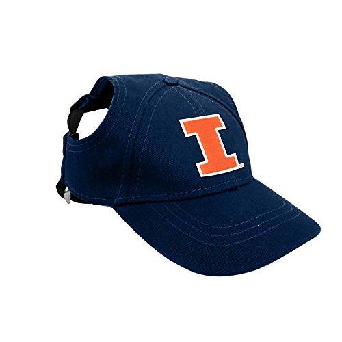 Littlearth NCAA Illinois Fighting Illini Pet Baseball Hat, XS