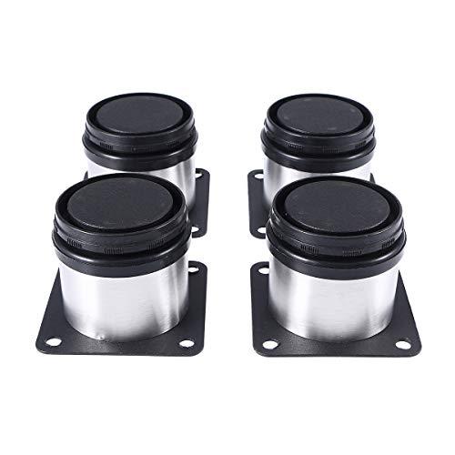 BESTOMZ Möbelfüße Schrankfüße Metall verstellbar Edelstahl verstellbar Küche runden 4-er Pack