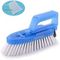 Cepillo para Limpieza de Juntas Desmontable - Cepillo Para Baños, Cocinas y Hogar - Limpia a Fondo las Juntas de las Baldosas y Azulejos y Elimina el Moho Superficial (Azul + Esponja)