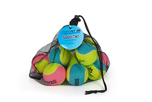 SPORTSPET Tennisball Medium mit Quietscher gelb 200g