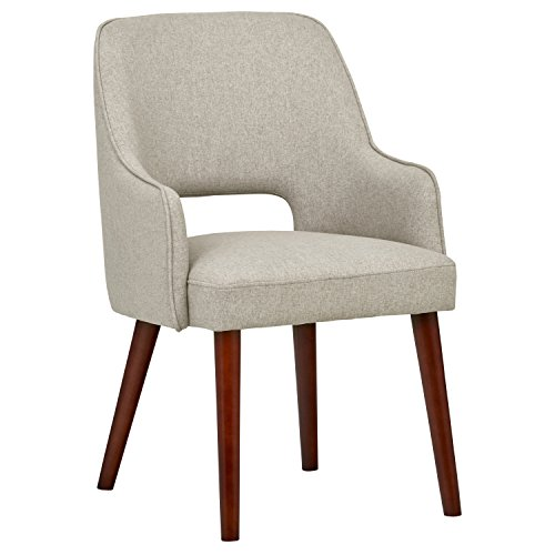Rivet Malida Mid-Century Modern Open Back Kitchen Dining Room Accent Chair - 18.5' Seat Height, Felt...