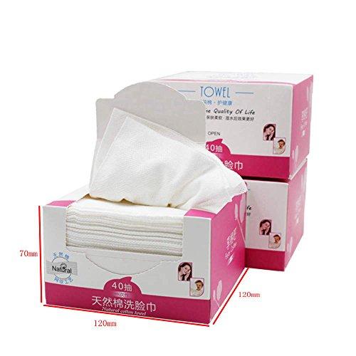 AKAAYUKO 1 * 40pcs Maquillage Non-tissé Coton Serviette de lavage