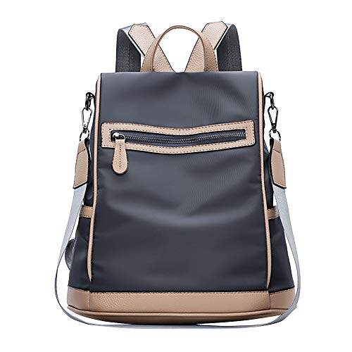Mochilas Casual de Viaje de Tela Oxford de Personalidad de Moda Bolsa Antirrobo Paquete de Viaje y Ocio para Mujeres y Chicas Diario Messenger Bag Backpack (Gris Oscuro)