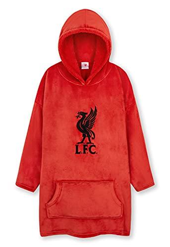 Liverpool F.C. Boys Hoodies, Oversized Hoodie Blanket, Kids Football Gifts (Red)