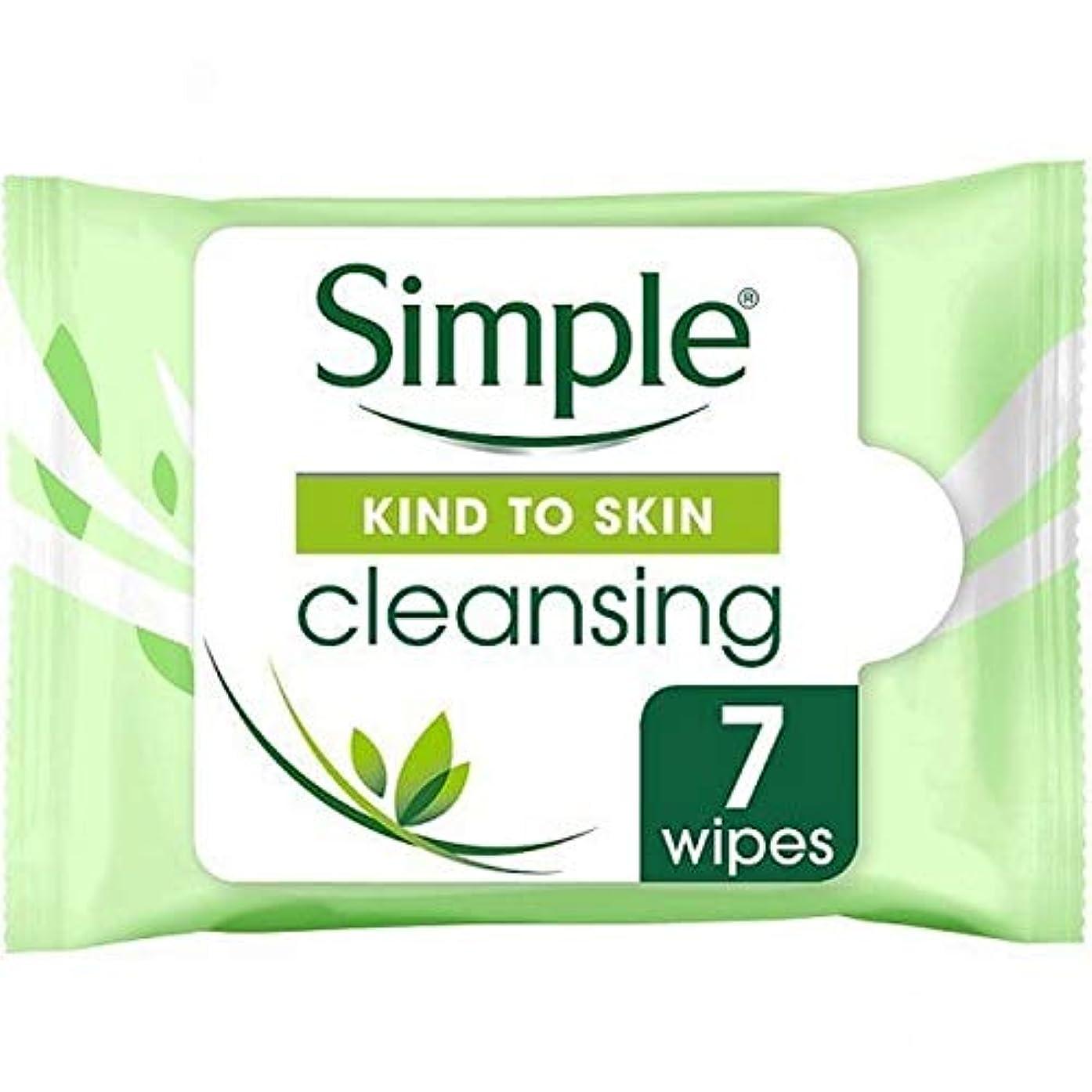 短くするく物足りない[Simple ] 顔のワイプの7Sクレンジング肌への単純な種類 - Simple Kind To Skin Cleansing Facial Wipes 7s [並行輸入品]